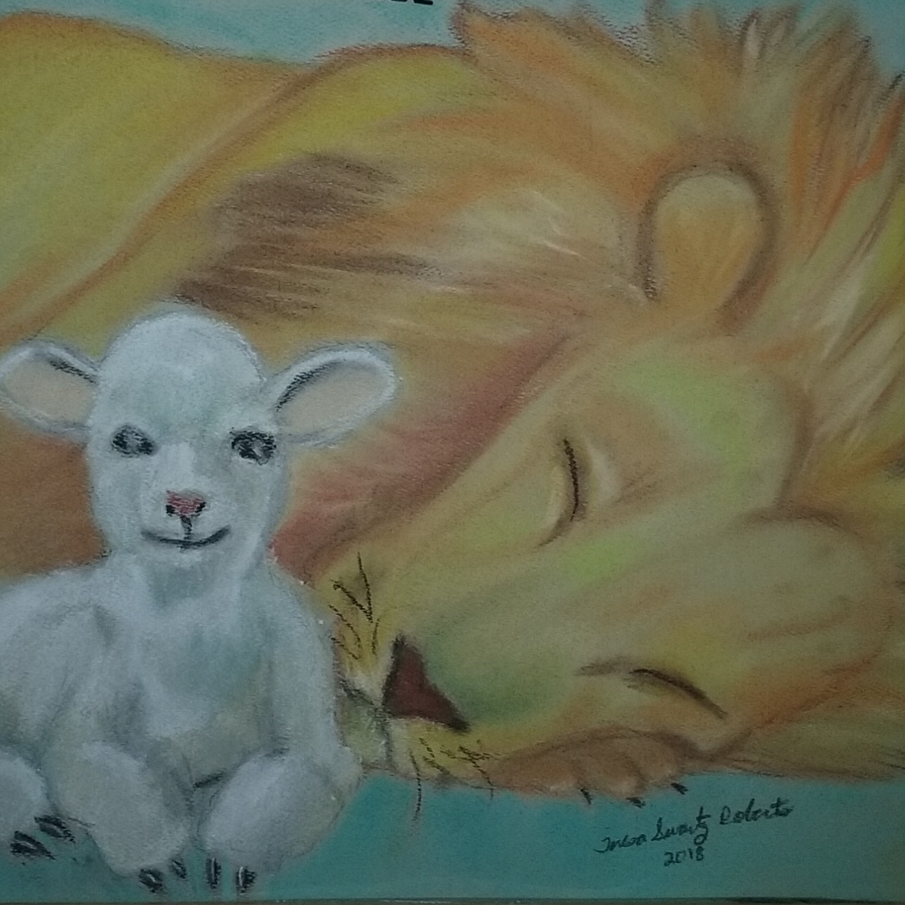 I used pastels to create this painting inspired by a greeting card.