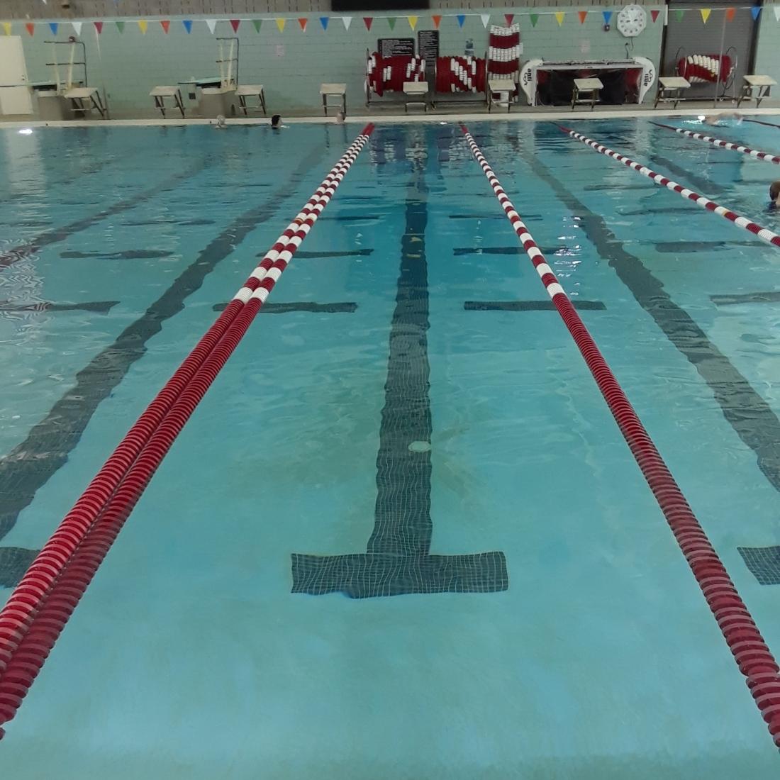 Swimming pool lap lane