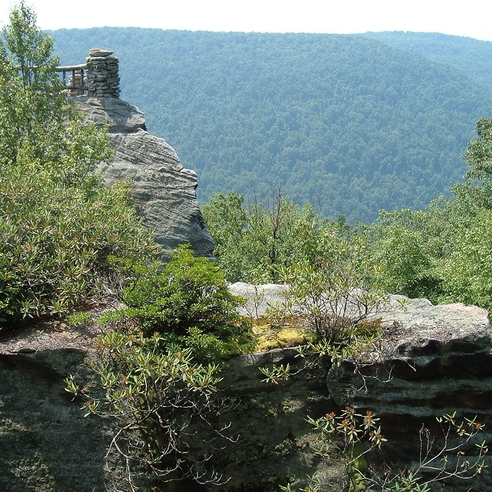 Cooper's Rock in West Virginia rewards the hiker/climber with beautiful vistas.