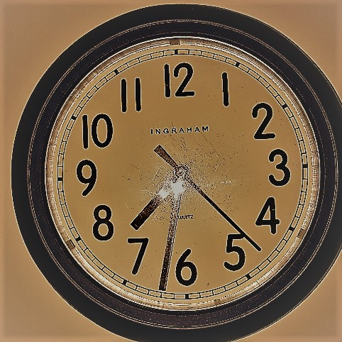 The imperfect clock picture signifies the imperfect nature of time with Parkinson's.